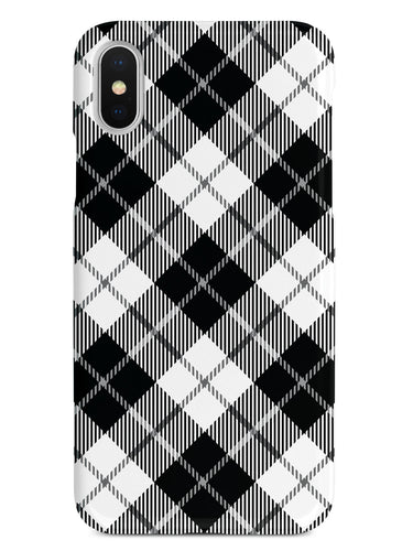 Black and White Plaid Case