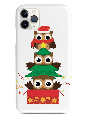 Christmas Owls Trio - White Case