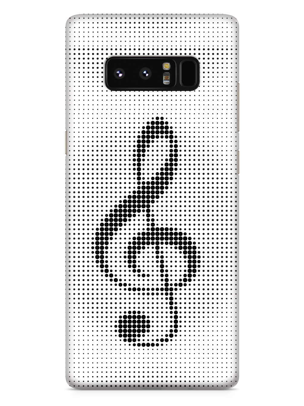 Treble Clef Polka Dots - White Case