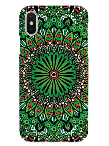 Christmas Mandala Design - Black Case
