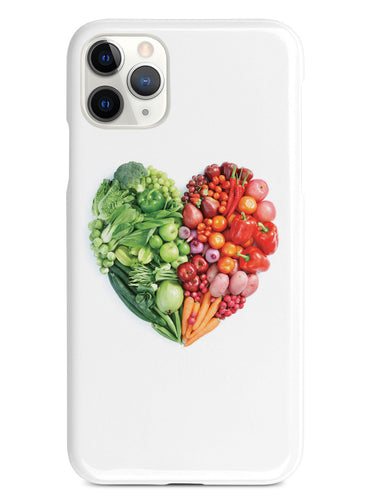 Healthy Food Heart - Fruits and Vegetables - White Case