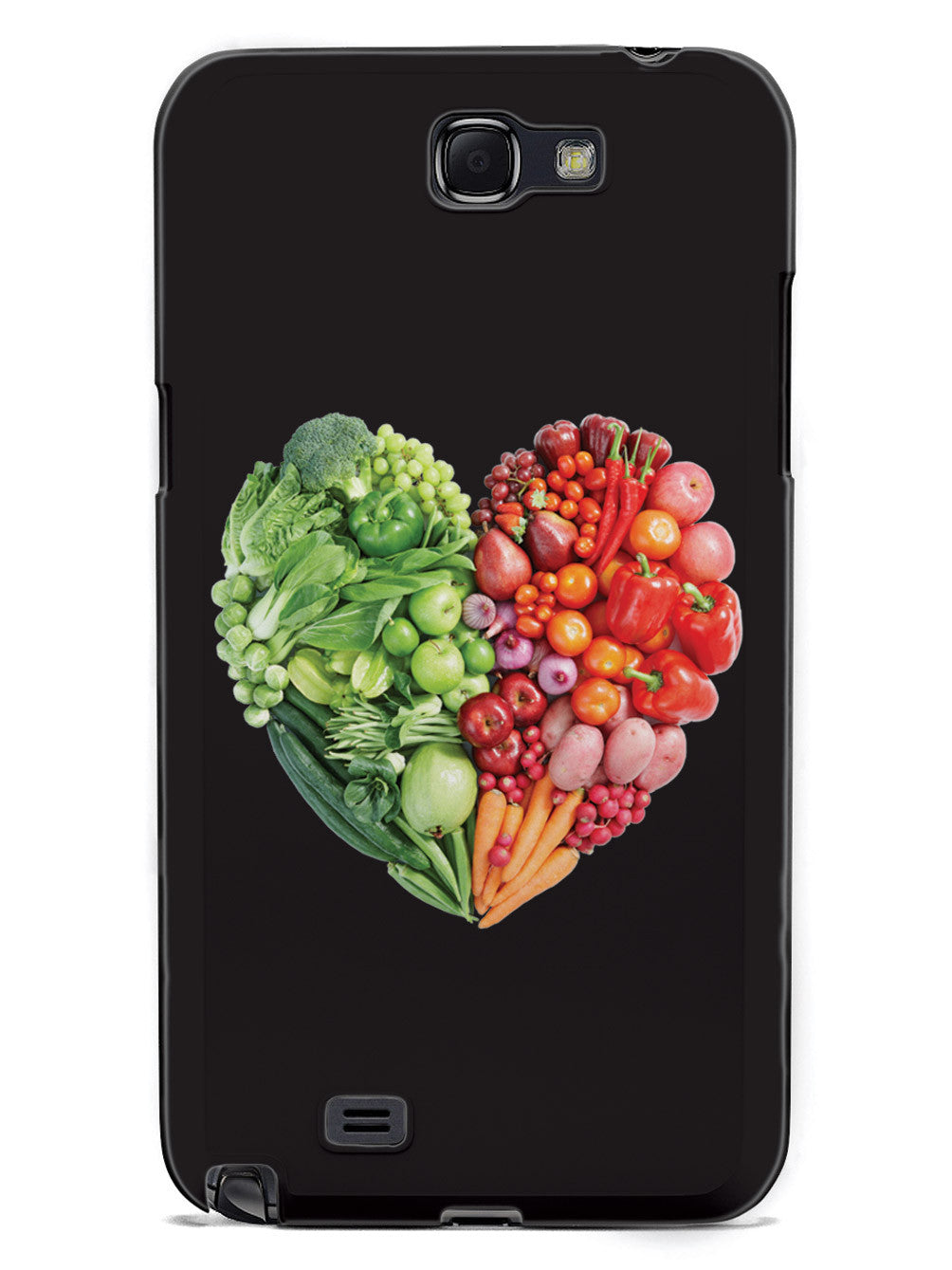 Healthy Food Heart - Fruits and Vegetables - Black Case