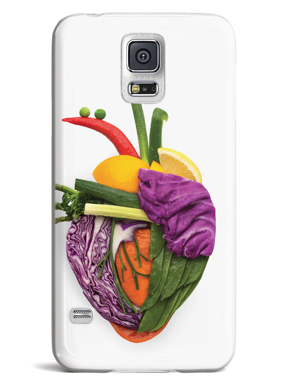 Anatomical Veggie Heart - White Case