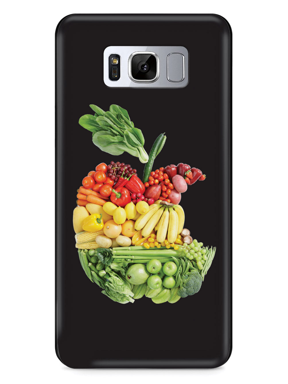 "An ""Apple"" A Day - Fruits and Vegetables - Black Case"