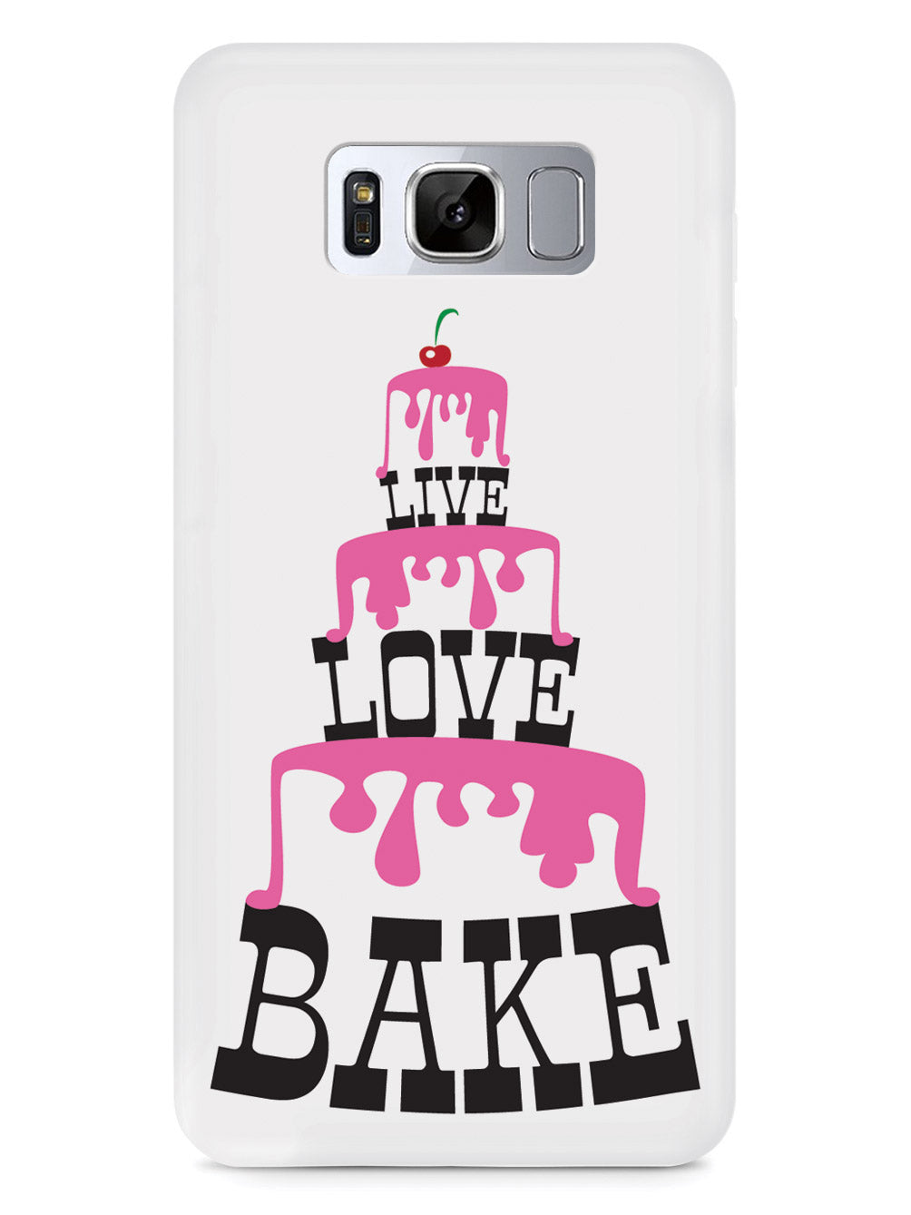 Live Love Bake  - Pink Cake Tower - White Case