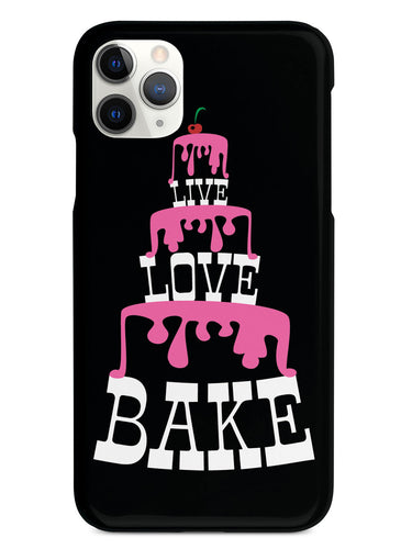 Live Love Bake  - Pink Cake Tower - Black Case