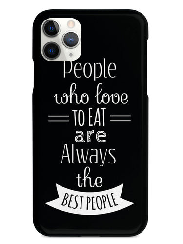 People Who Love To Eat - Black Case