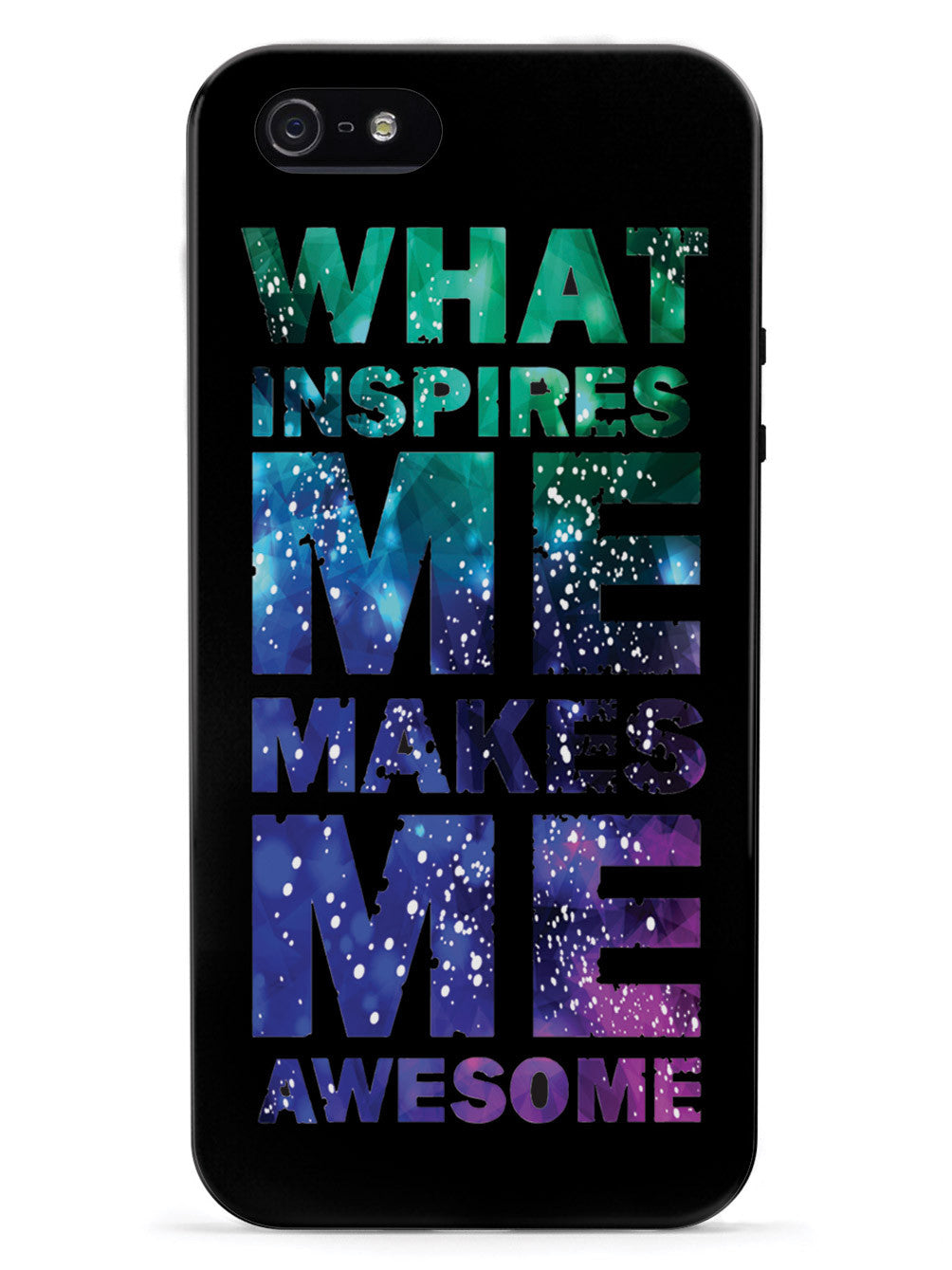 What Inspires Me Makes Me Awesome - Black Case