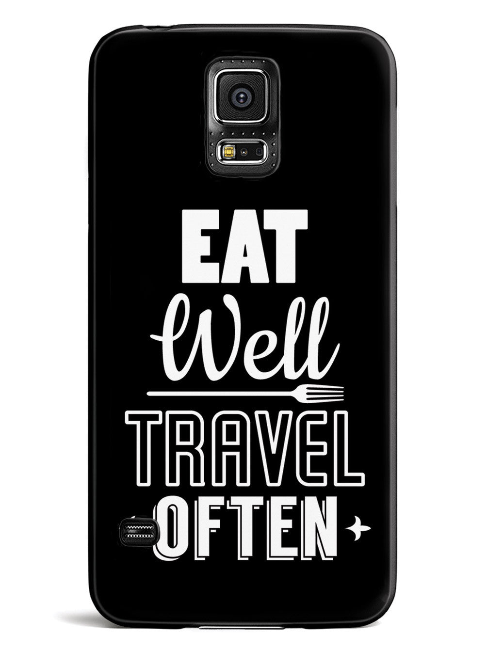 Eat Well, Travel Often - Black Case
