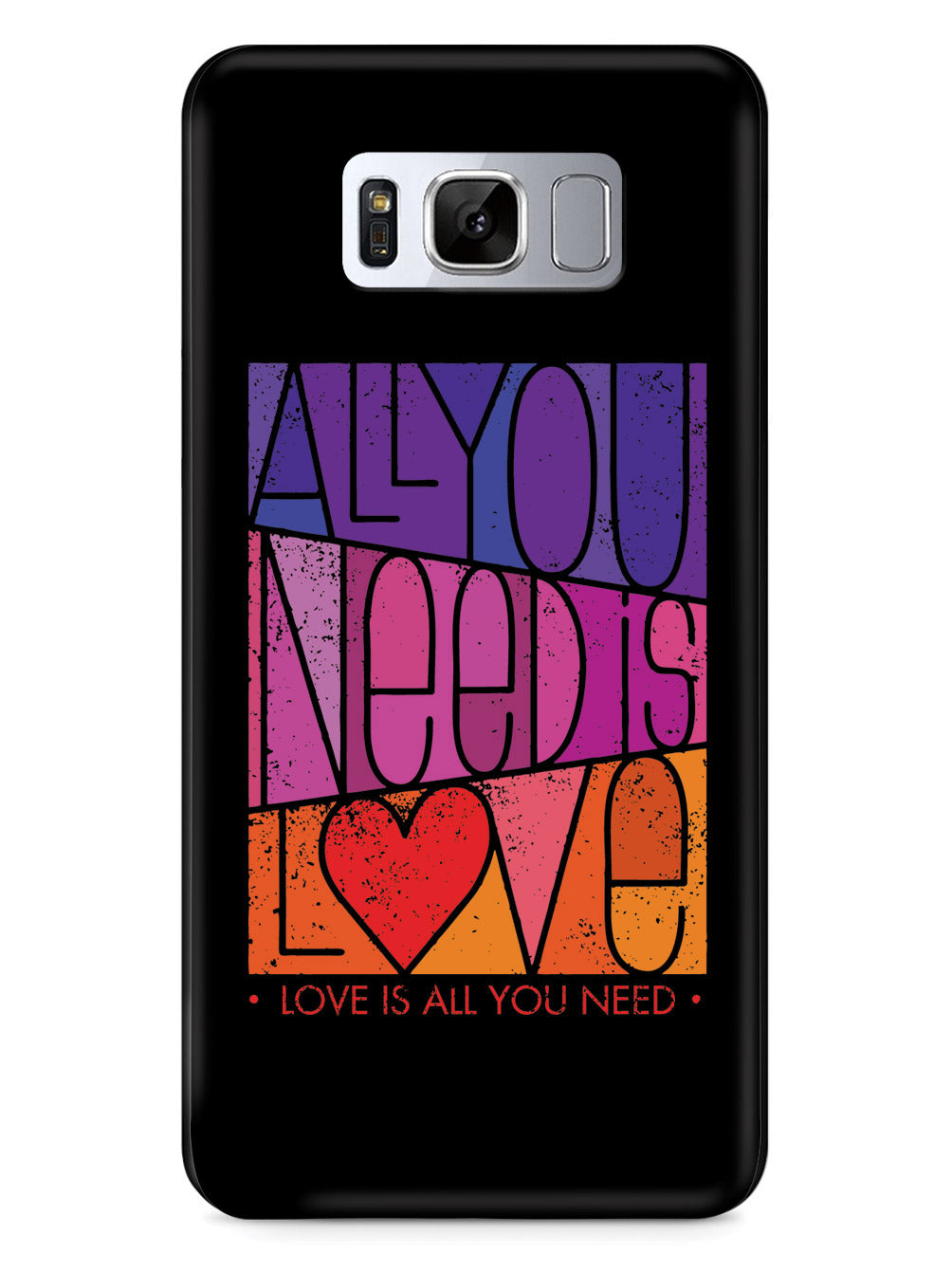 All You Need is LOVE - Block Script - Black Case
