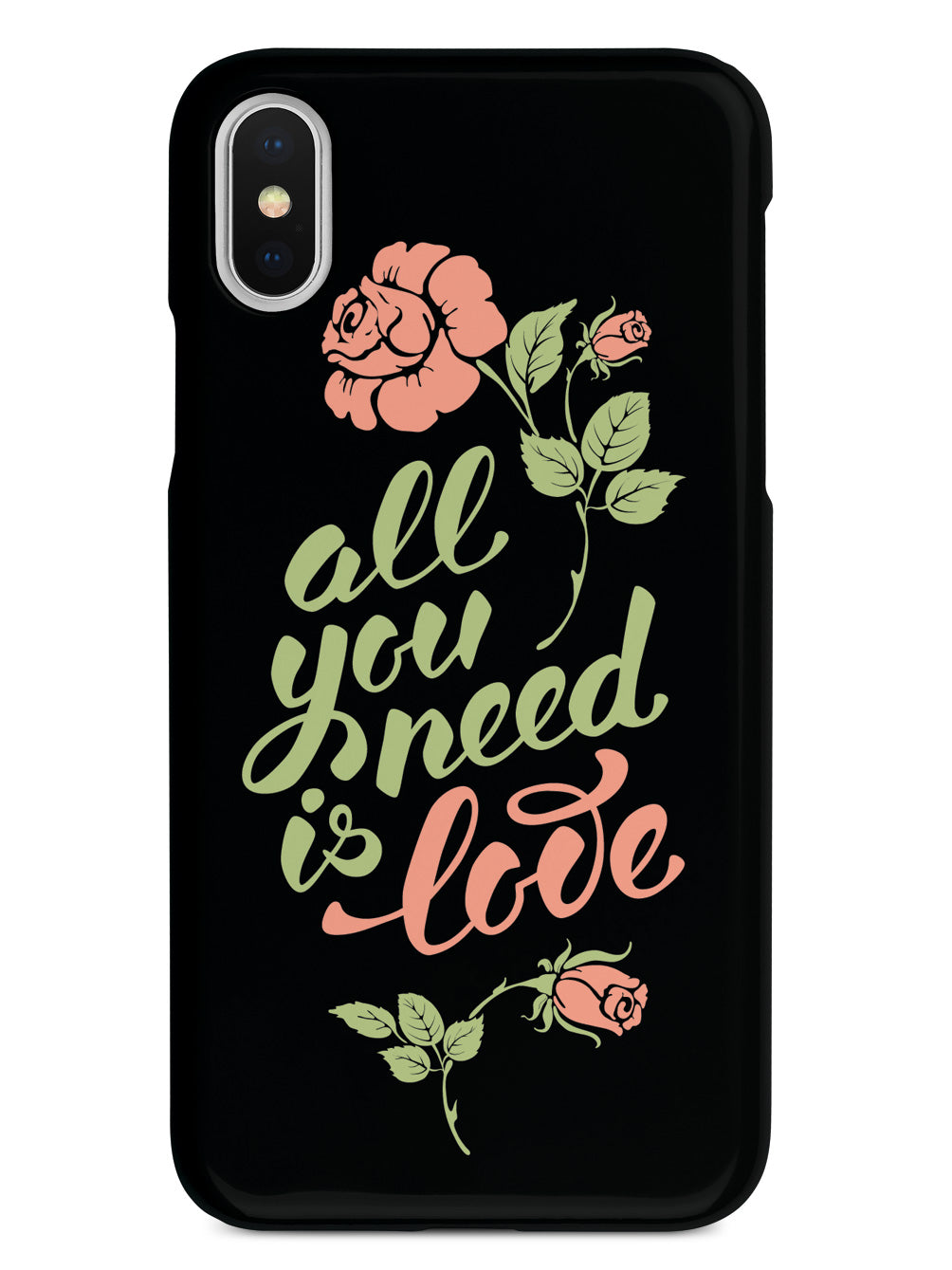 All You Need is LOVE - Flower Script - Black Case