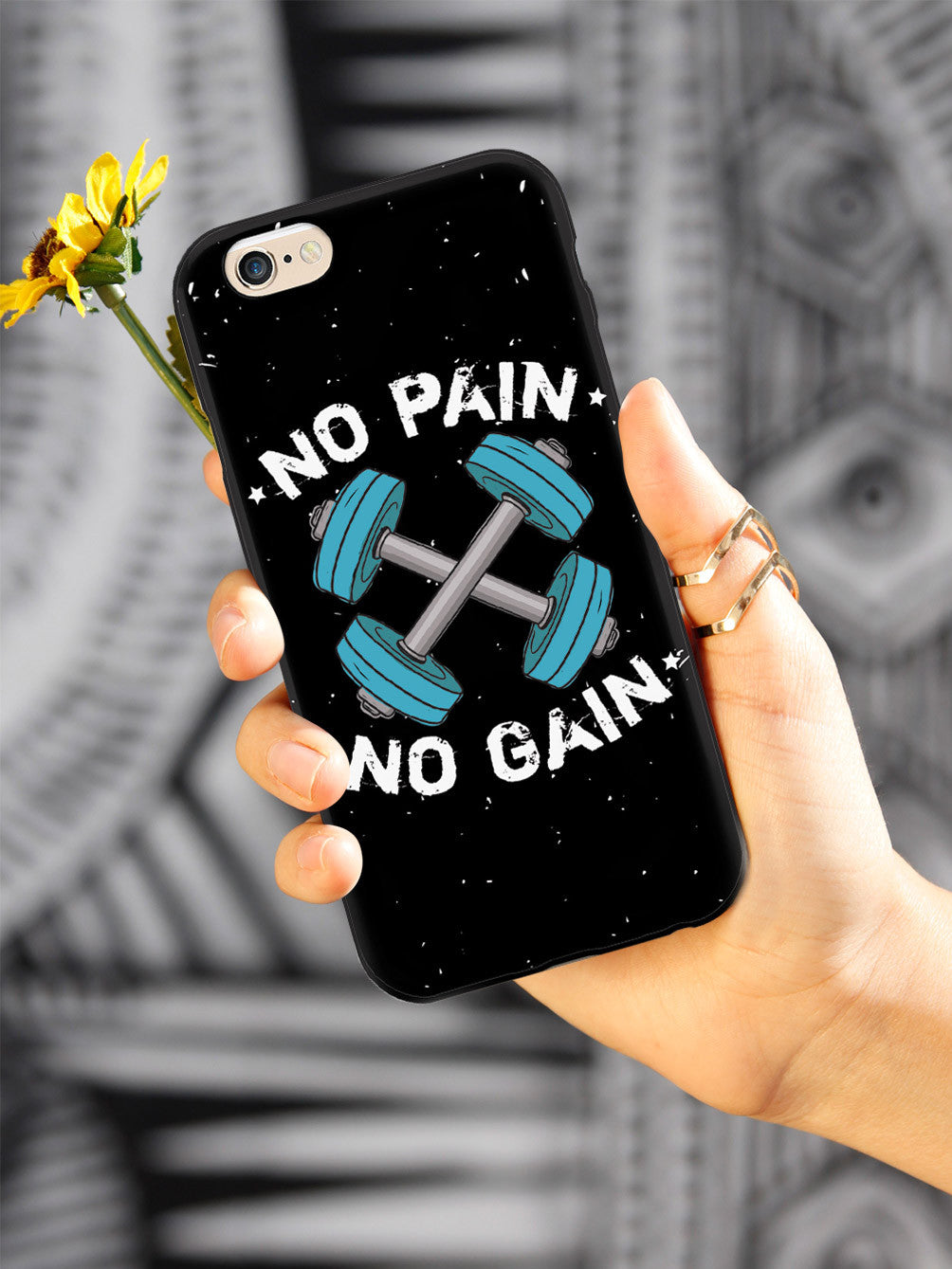 No Pain, No Gain - Black Case