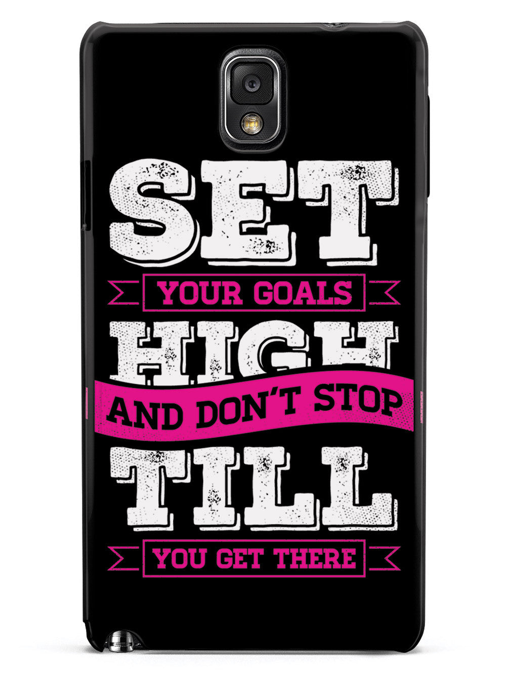 Set Your Goals High, Don't Stop - Black Case