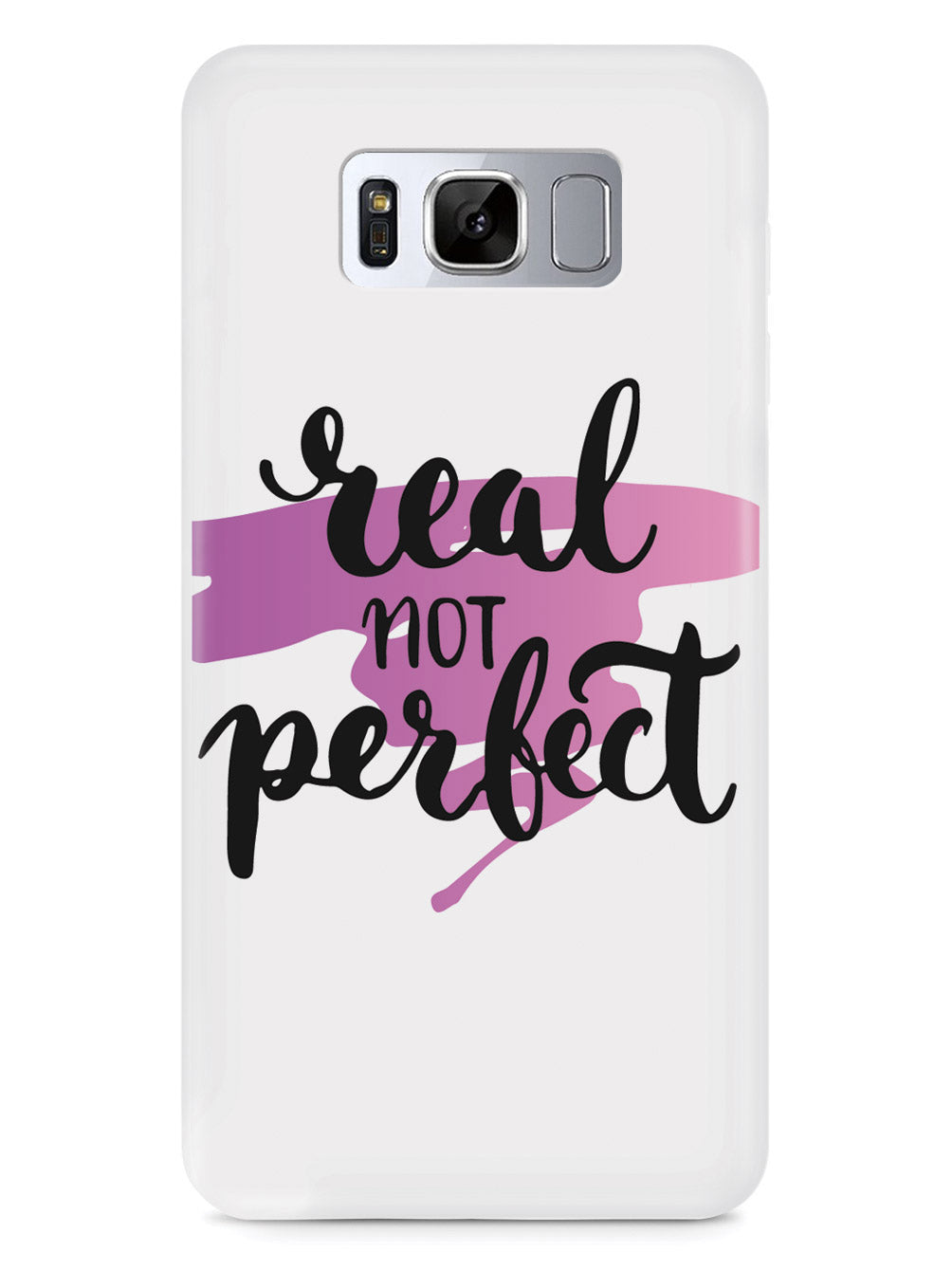 Real not Perfect - Pink Background - White Case