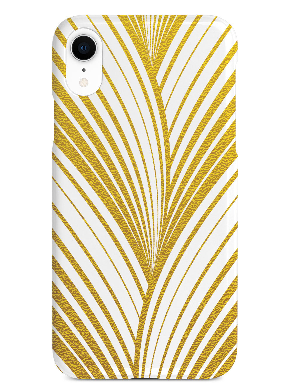 Gold Abstract Wavy Stripes - White Case