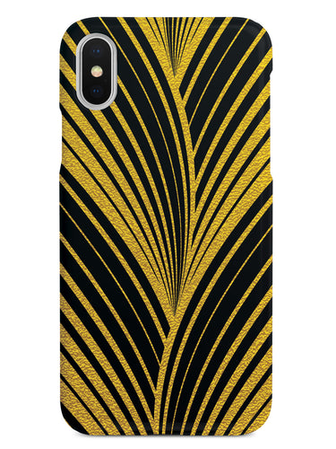 Gold Abstract Wavy Stripes - Black Case