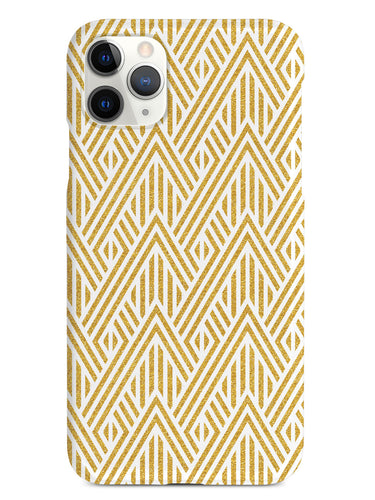 Geometric Gold Stripes - White Case