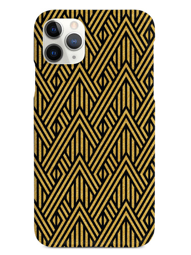 Geometric Gold Stripes - Black Case