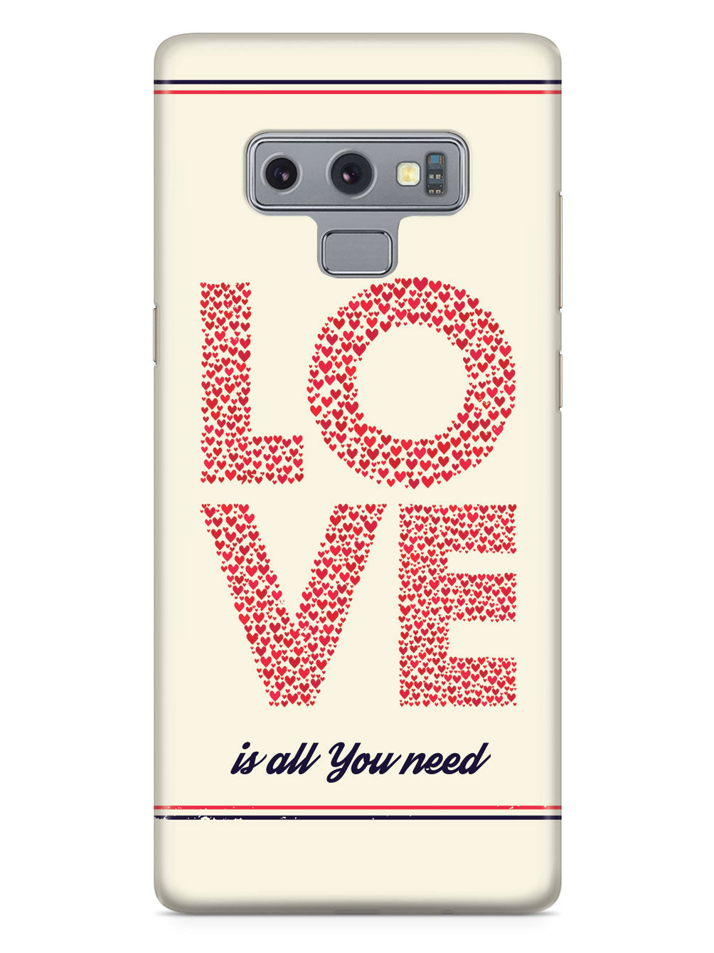 Love is all you need - Red Hearts - White Case