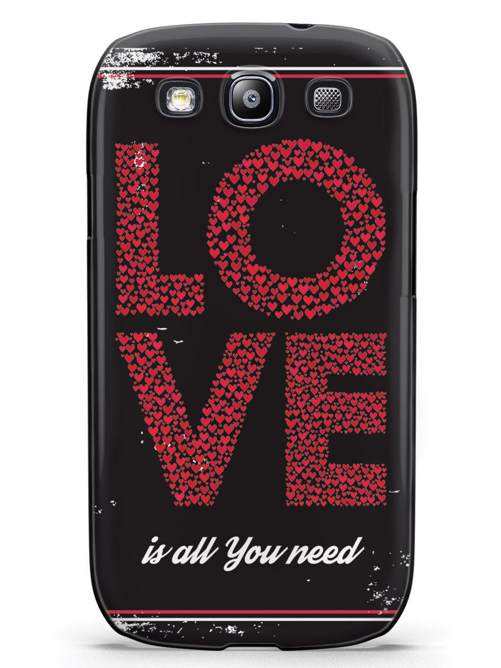 Love is all you need - Red Hearts - Black Case