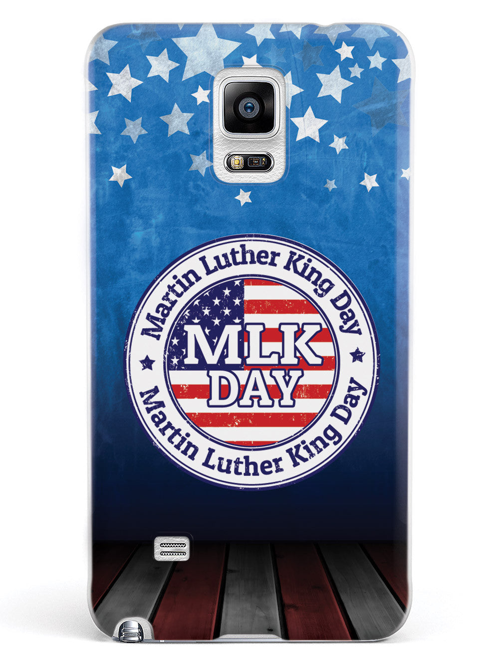 MLK Day Stamp - Patriotic Background - White Case