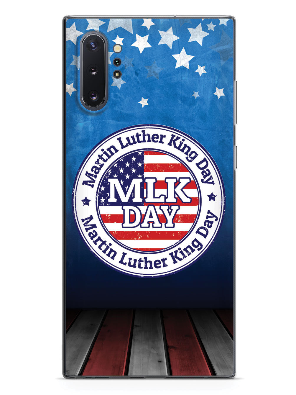 MLK Day Stamp - Patriotic Background - Black Case