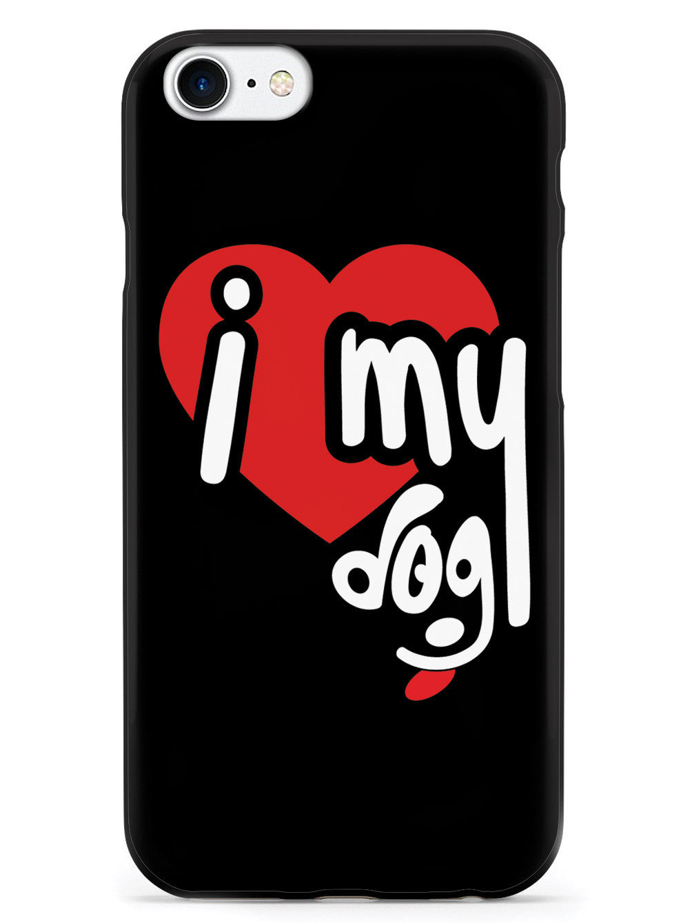 I Heart My Dog - Black Case
