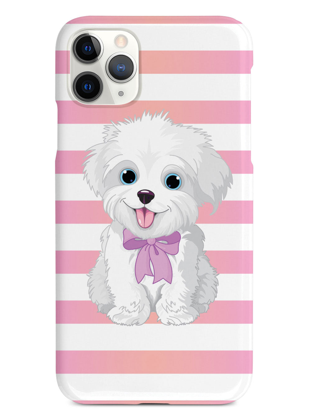 Cute Maltese Puppy Cartoon White Case Inspiredcases