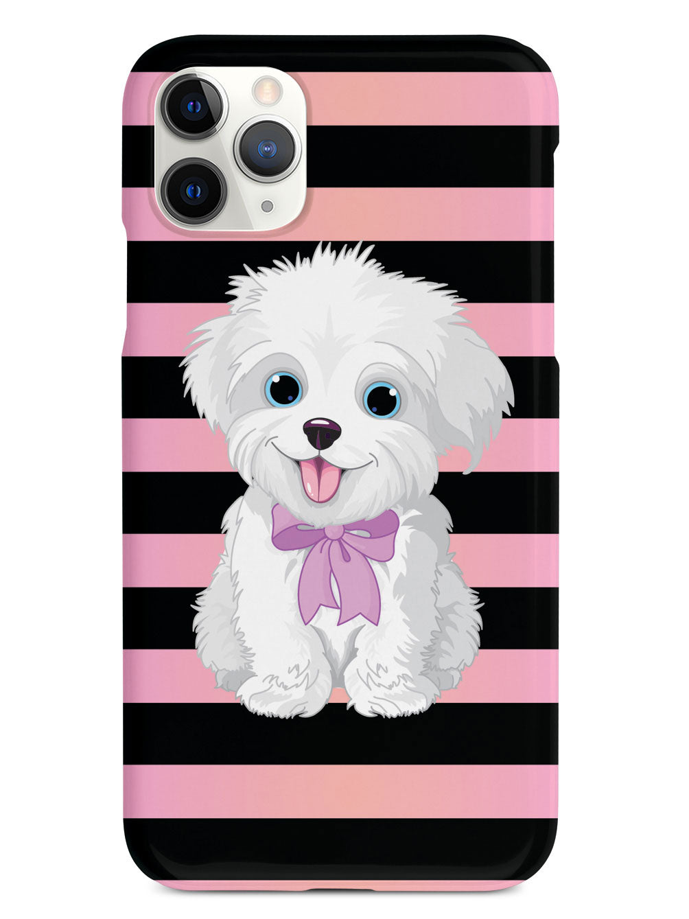 Cute Maltese Puppy Cartoon Black Case Inspiredcases