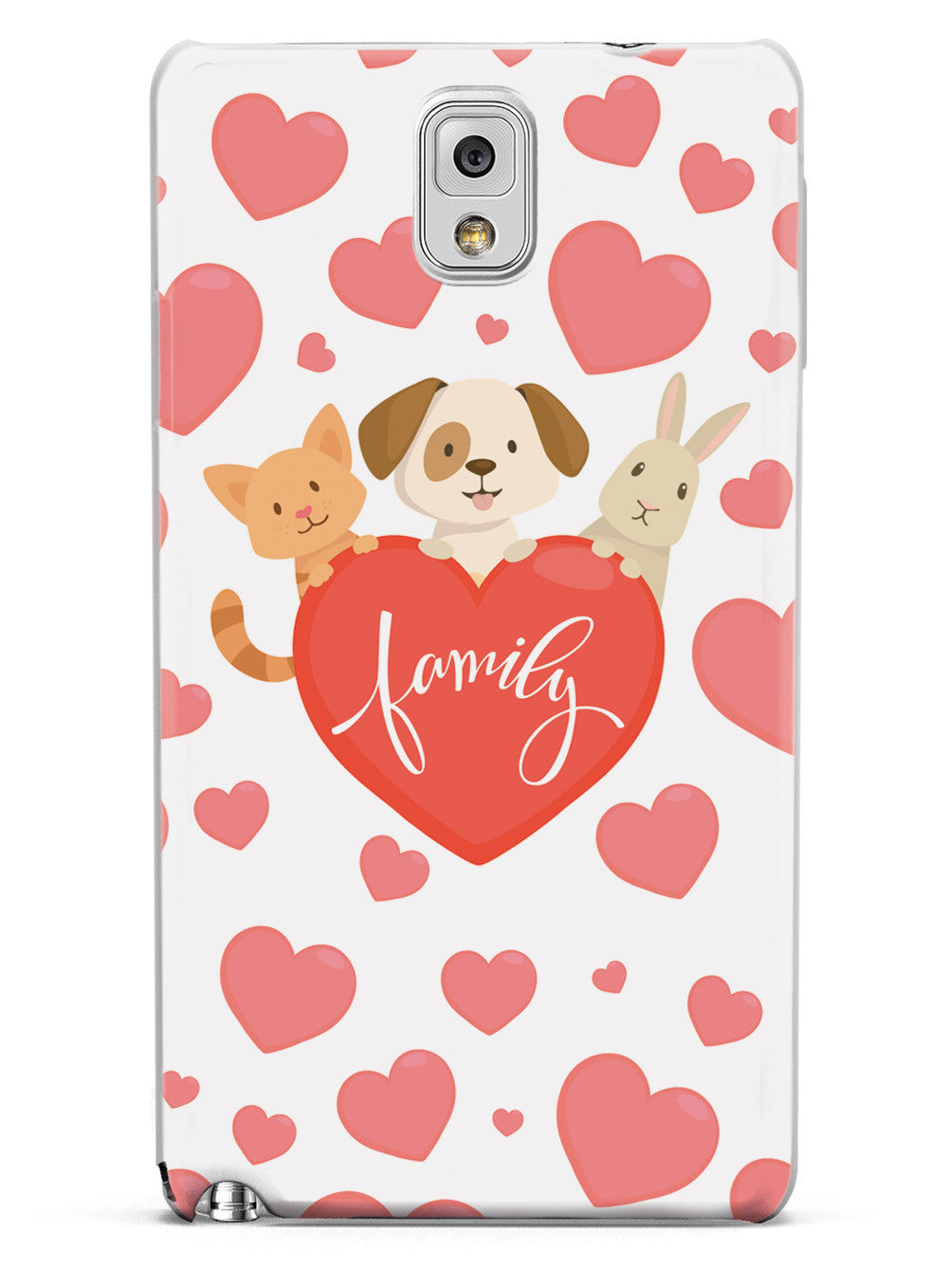 Pet Family Heart - White Case