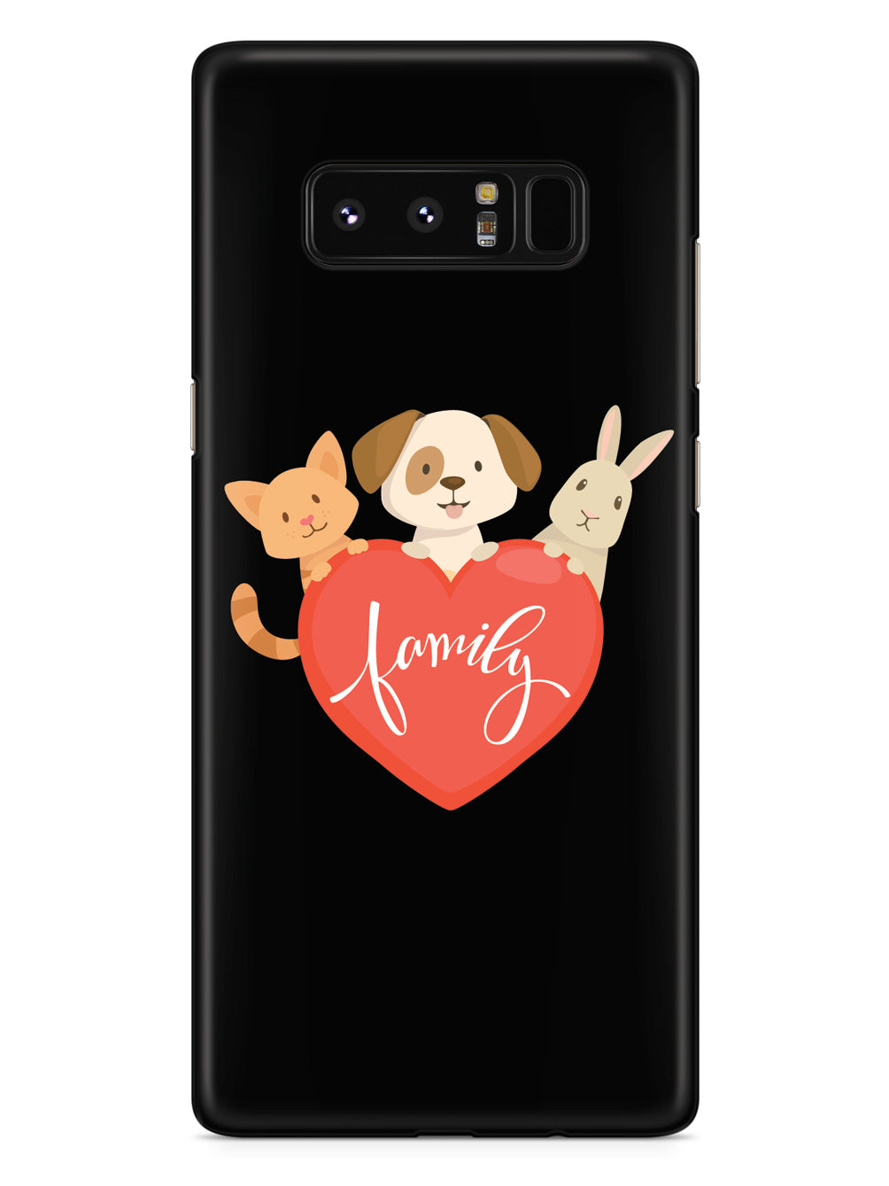Pet Family Heart - Black Case