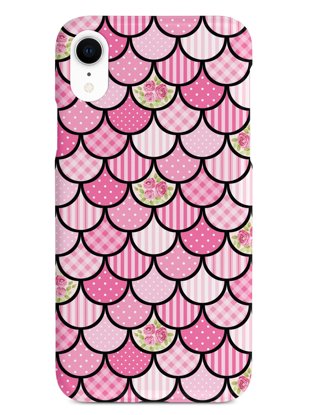 Mermaid Scales - Pink Patchwork - Black Case