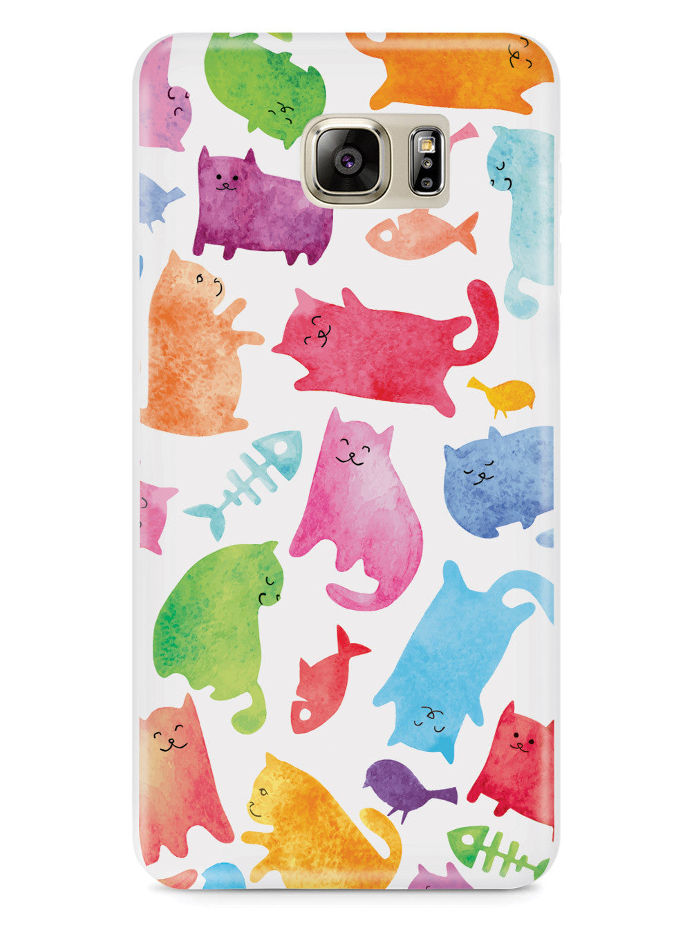 Watercolor Cats - White Case