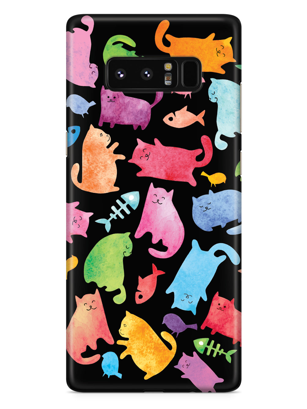 Watercolor Cats - Black Case