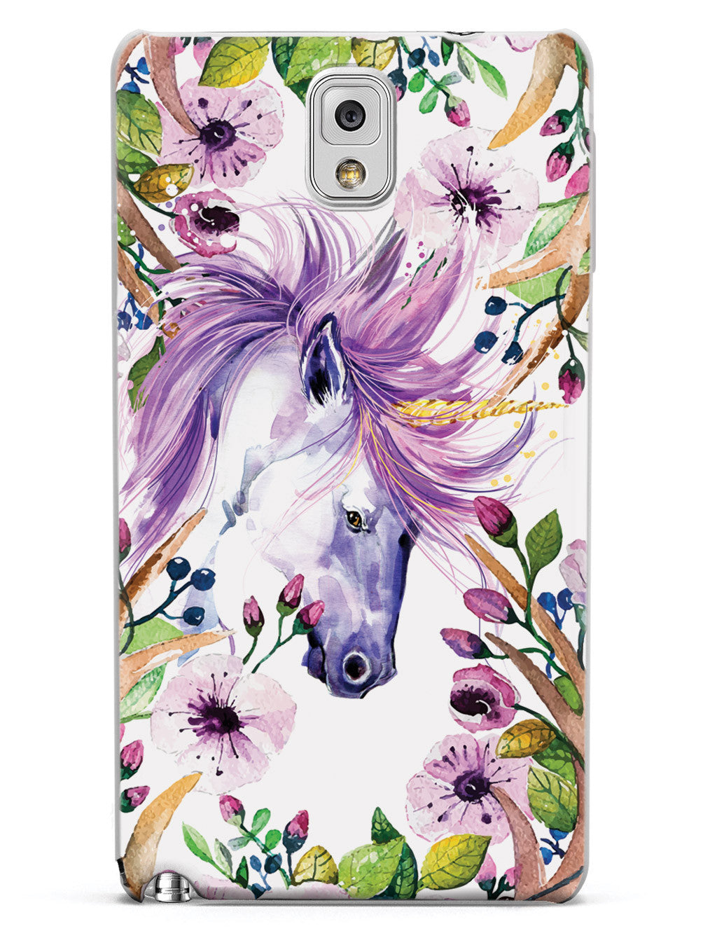 Floral Forest Unicorn - Purple Case