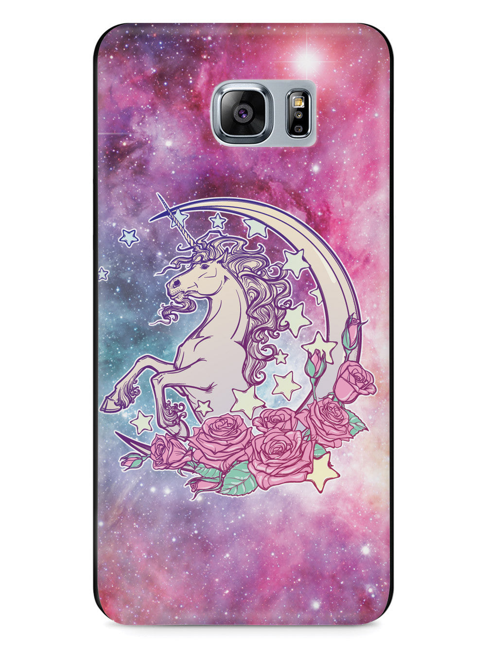 Celestial Space Unicorn - Black Case
