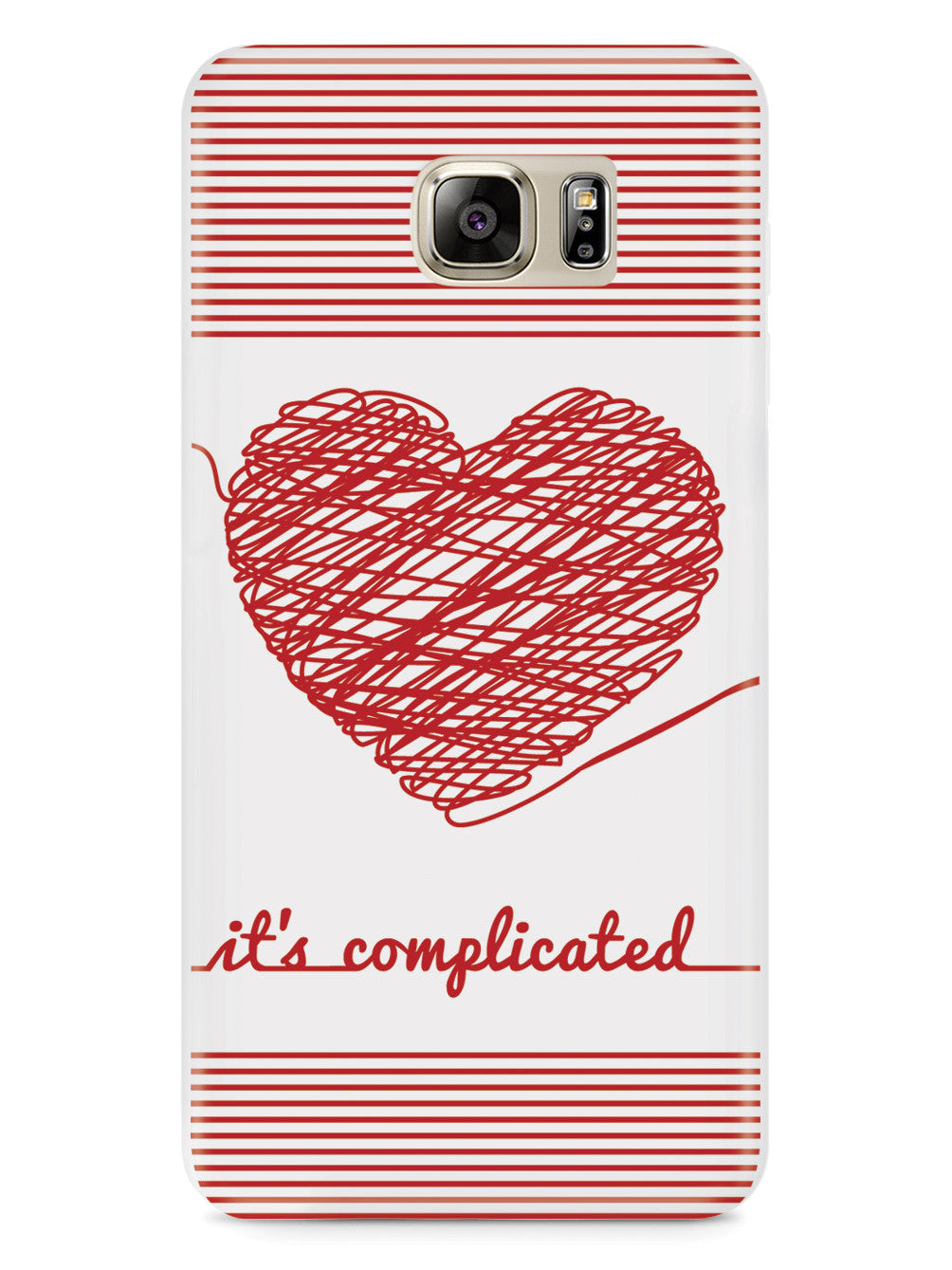 Chaos Doodle Heart - It's Complicated - White Case