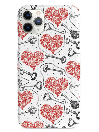 Unlocking Love - Vintage Keys & Hearts - White Case