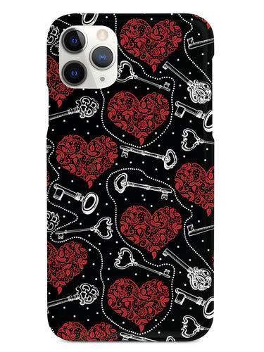 Unlocking Love - Vintage Keys & Hearts - Black Case