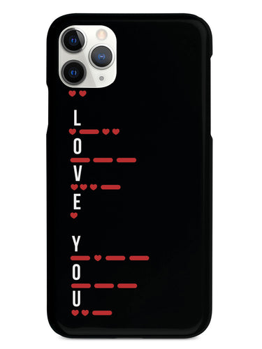 I Love You in Morse Code - Black Case