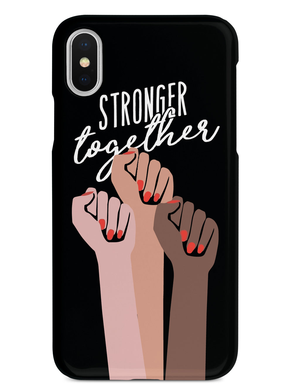 Stronger Together - Women's March Solidarity - Black Case