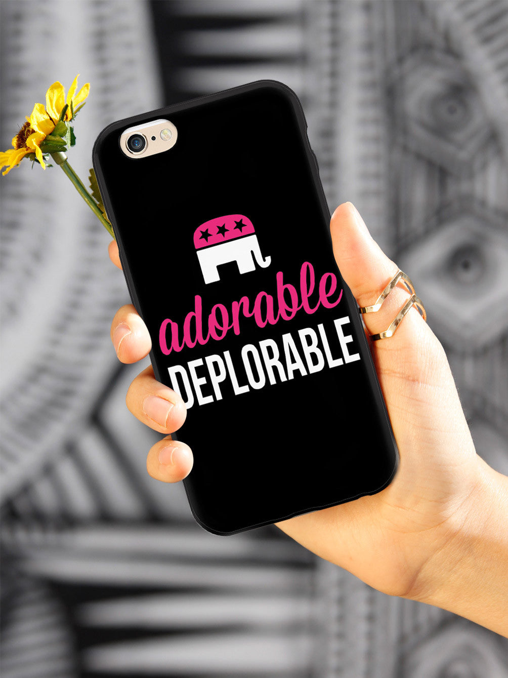 Adorable Deplorable - Black and Pink Case