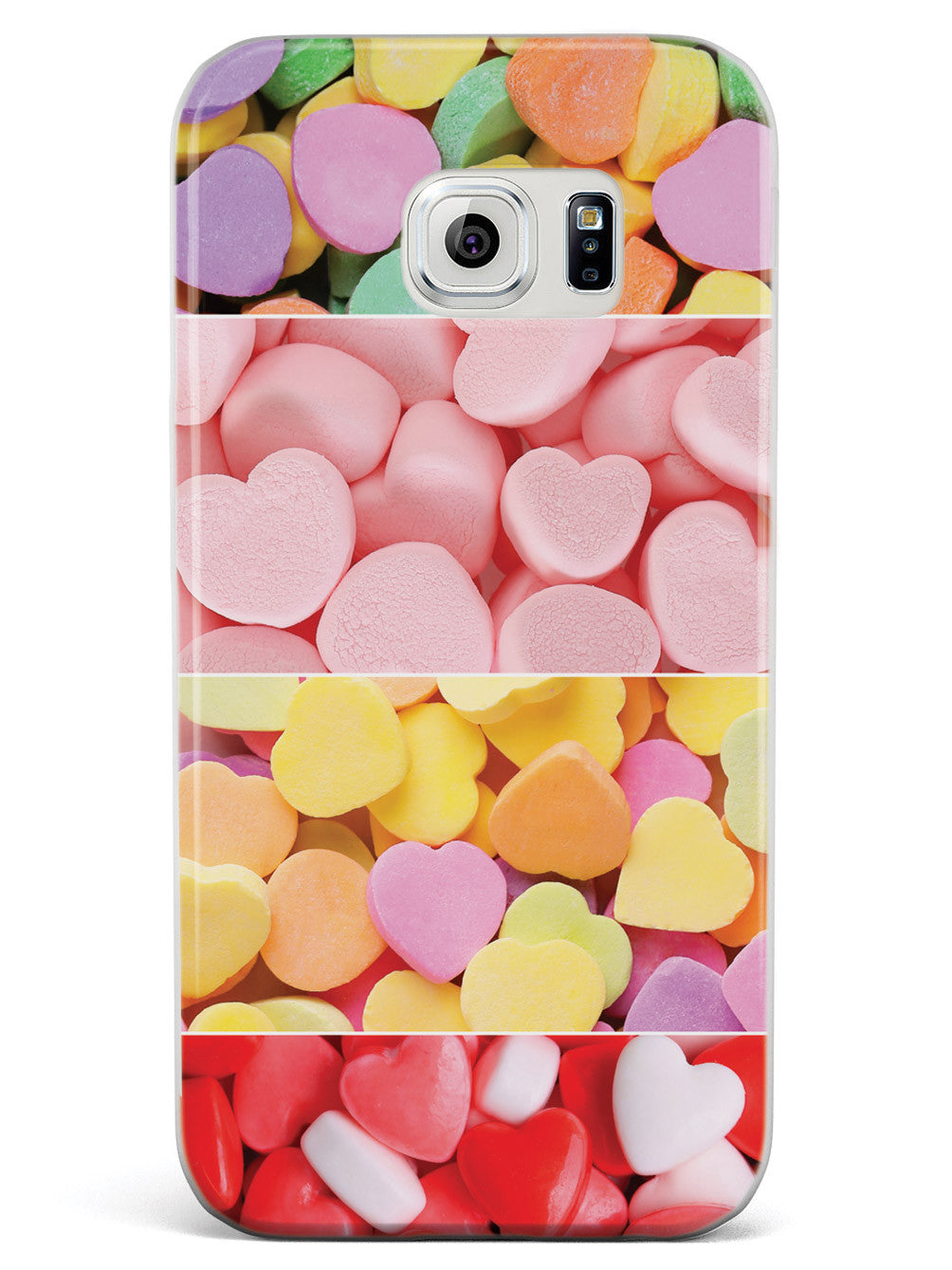 Variety of Candy Hearts Case