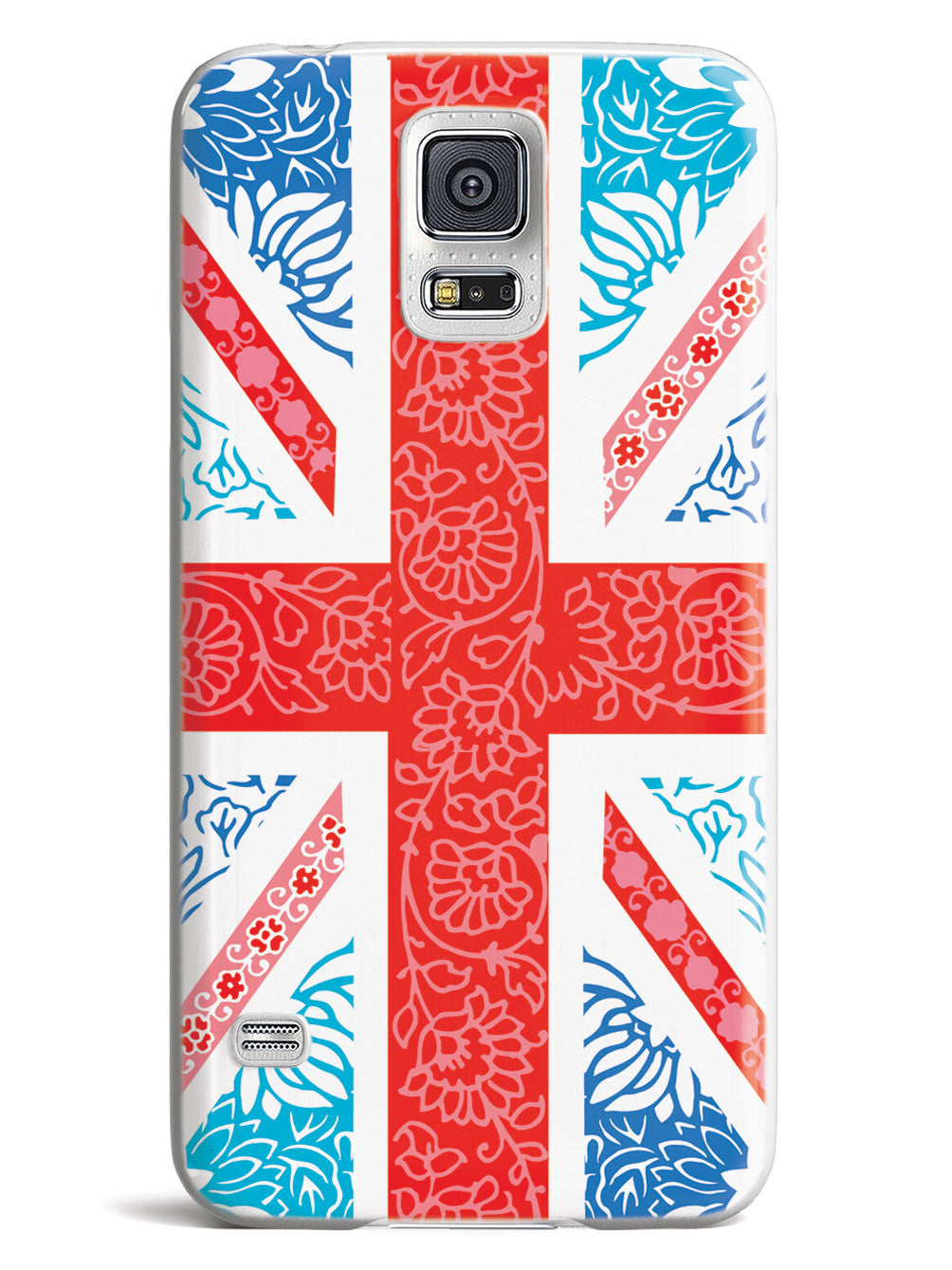 Cute Floral British Flag Case