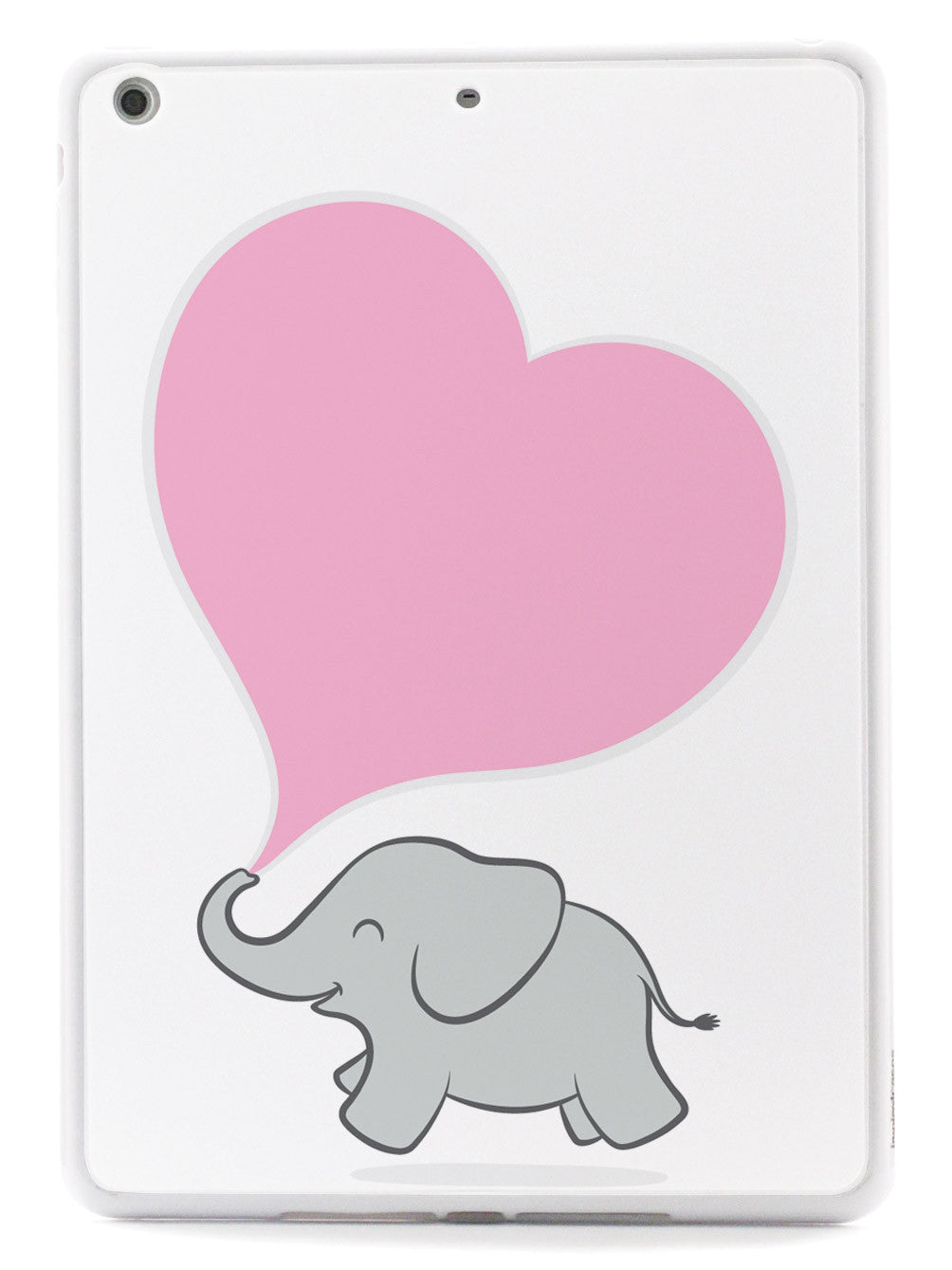 Cute Elephant - Pink Heart - White Case