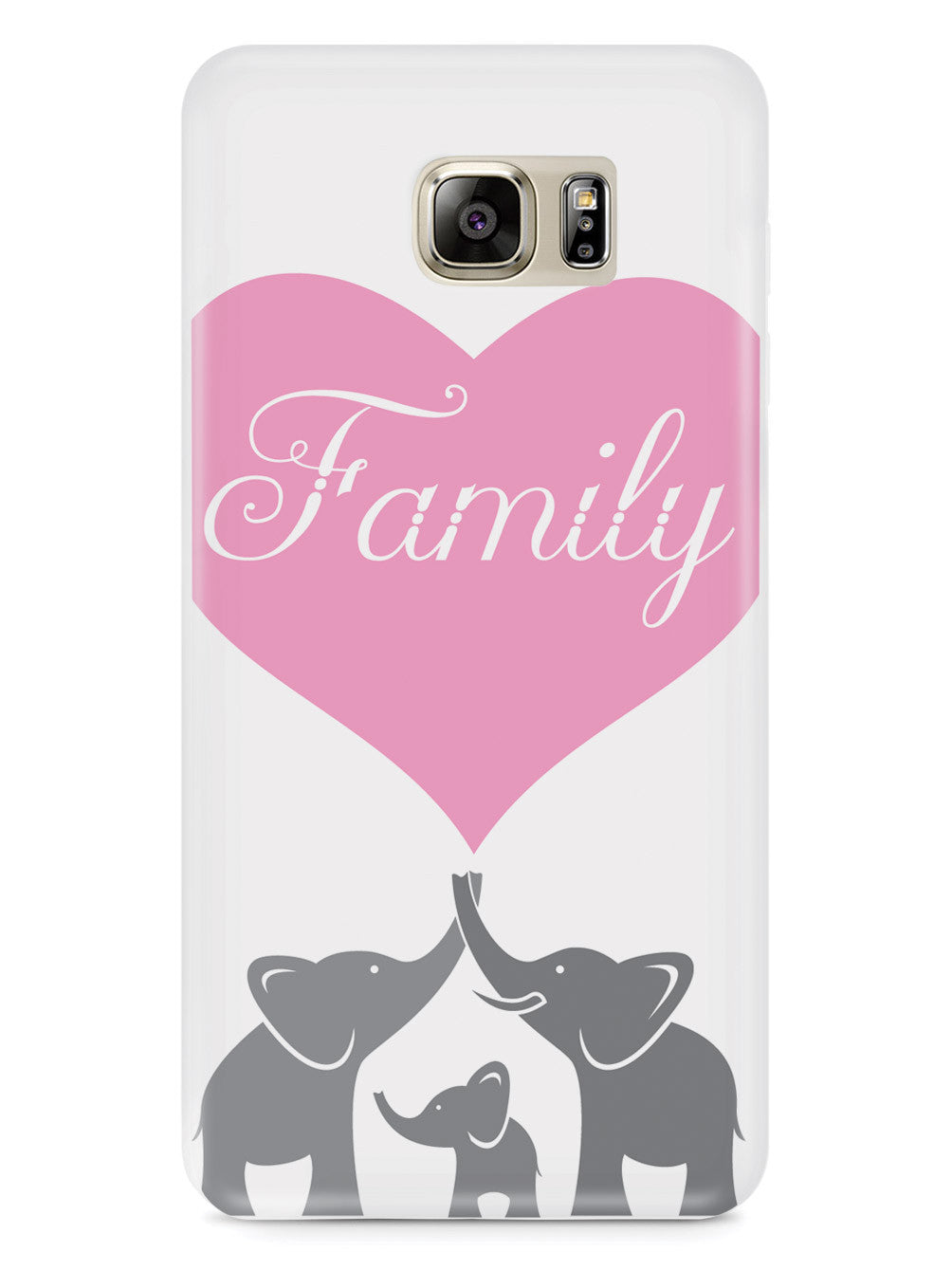 Elephant Family Heart - White Case