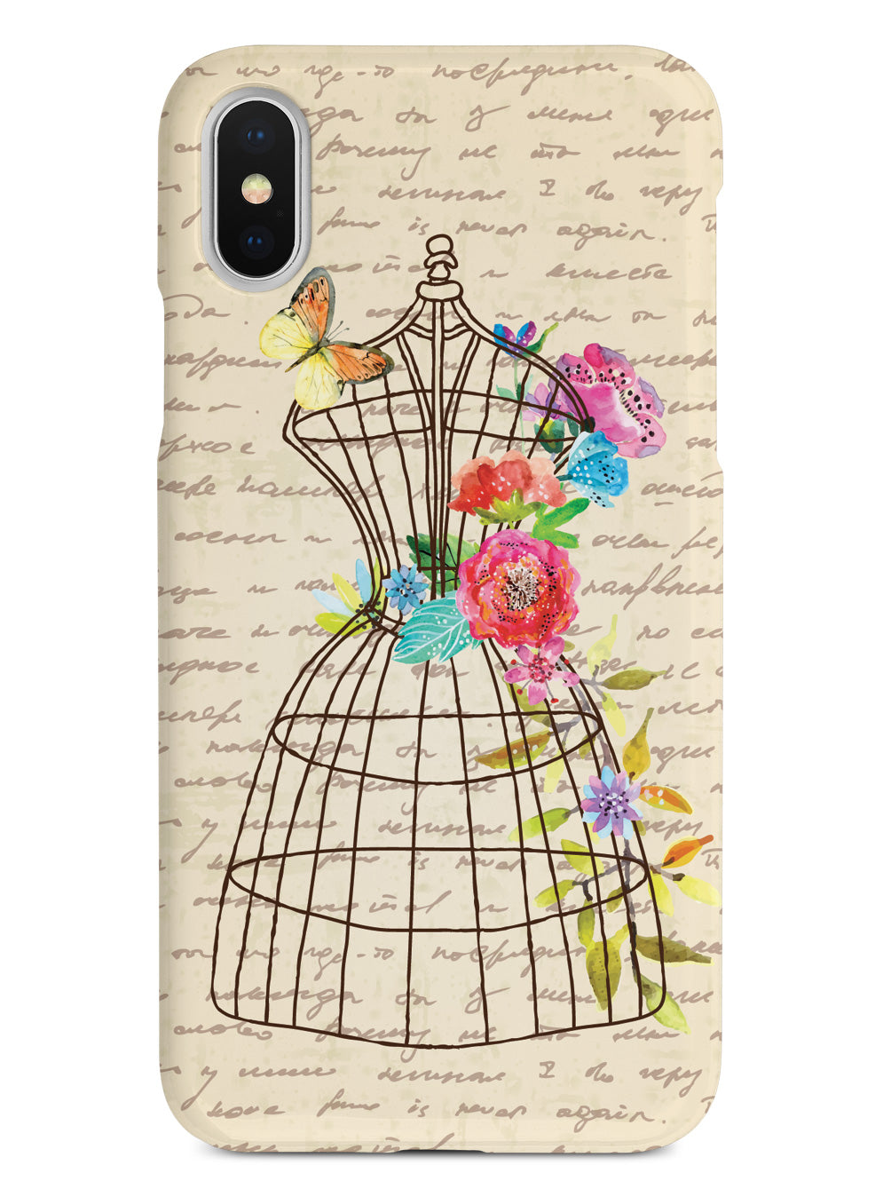 Vintage Floral Wire Mannequin - Black Case – InspiredCases