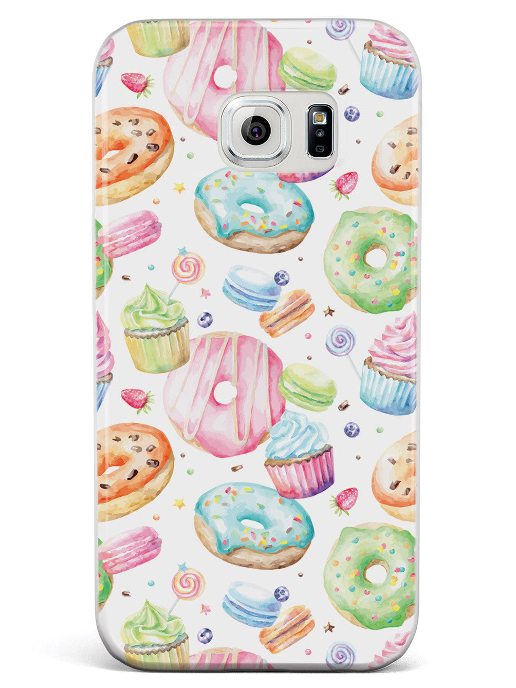 Watercolor Sweet Treats - White Case