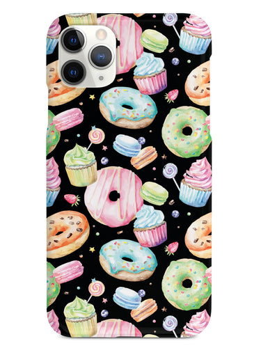 Watercolor Sweet Treats - Black Case