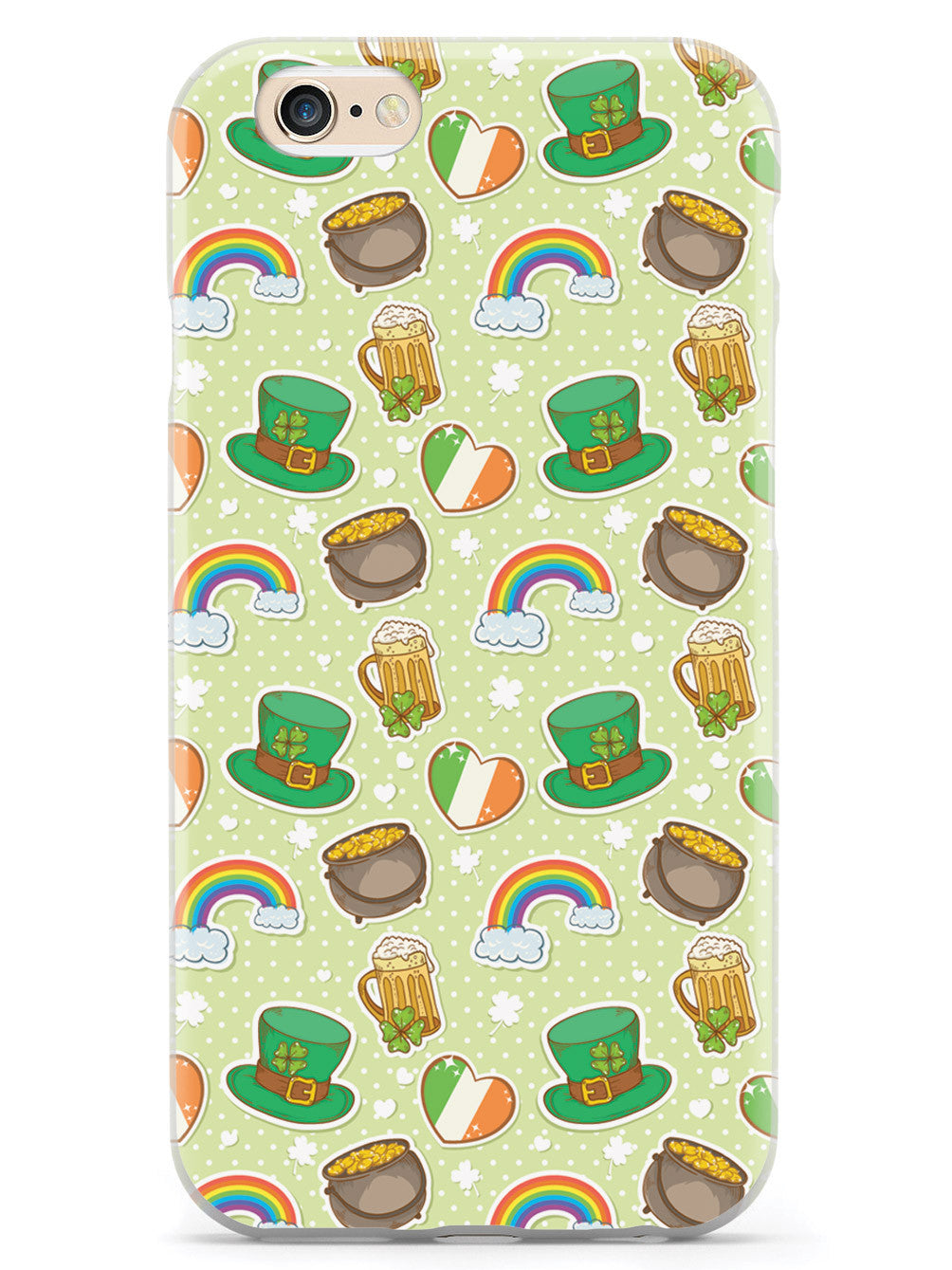 Cute St. Patrick's Day Icons - White Case
